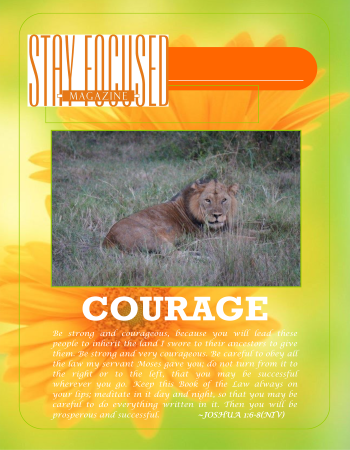Stay Focused Poster - Courage