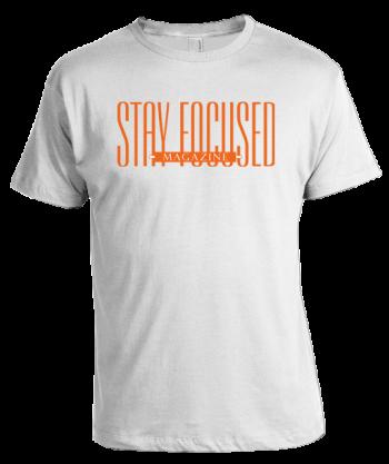 Stay Focused Magazine T-Shirt - White